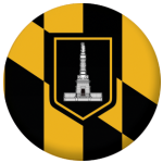 Baltimore (Maryland) Flag 58mm Fridge Magnet